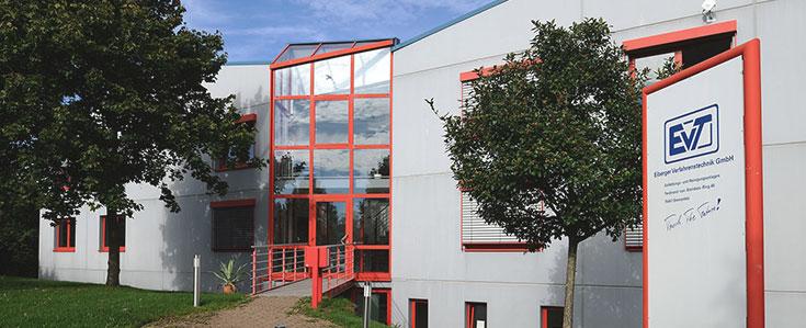Der EVT Firmensitz in Sternenfels - Frontansicht