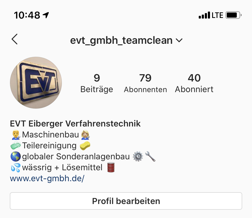 Instagram Account EVT