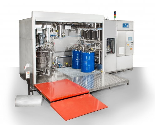 Cleaning Plant for agitator containers